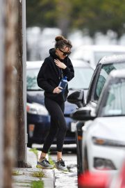 Dakota Johnson - Leaving Yoga on a rainy Los Angeles