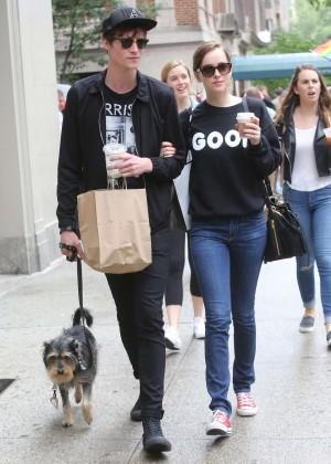 Dakota Johnson & Matthew Hitt Out in NYC