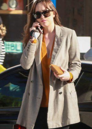 Dakota Johnson - On a coffee run in Beverly Hills