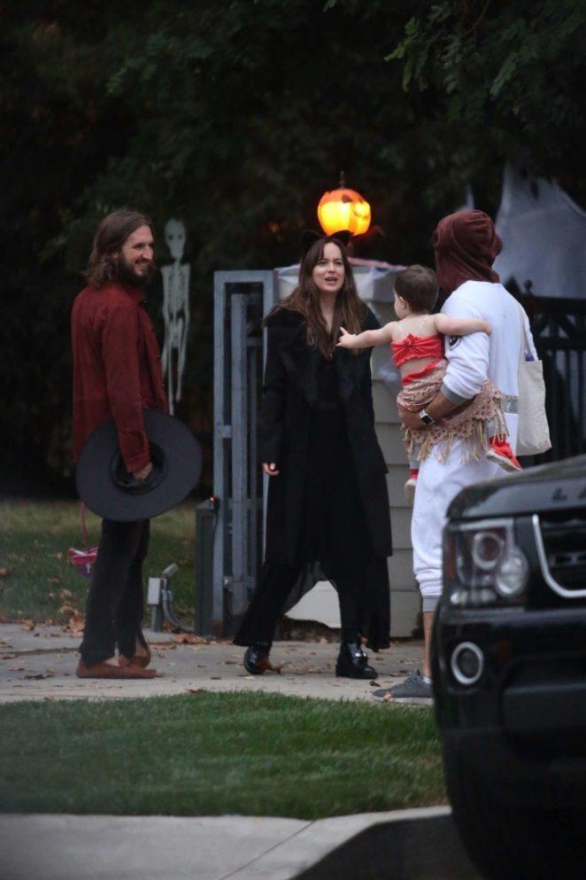 Dakota Johnson on Halloween night -19