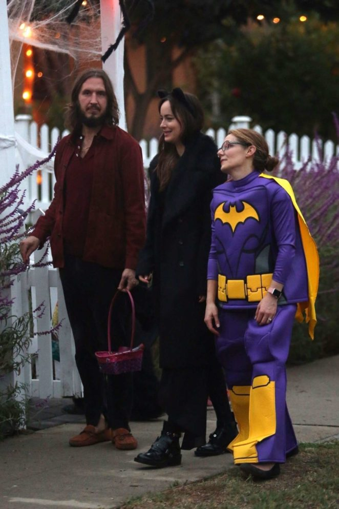 Dakota Johnson on Halloween night -20