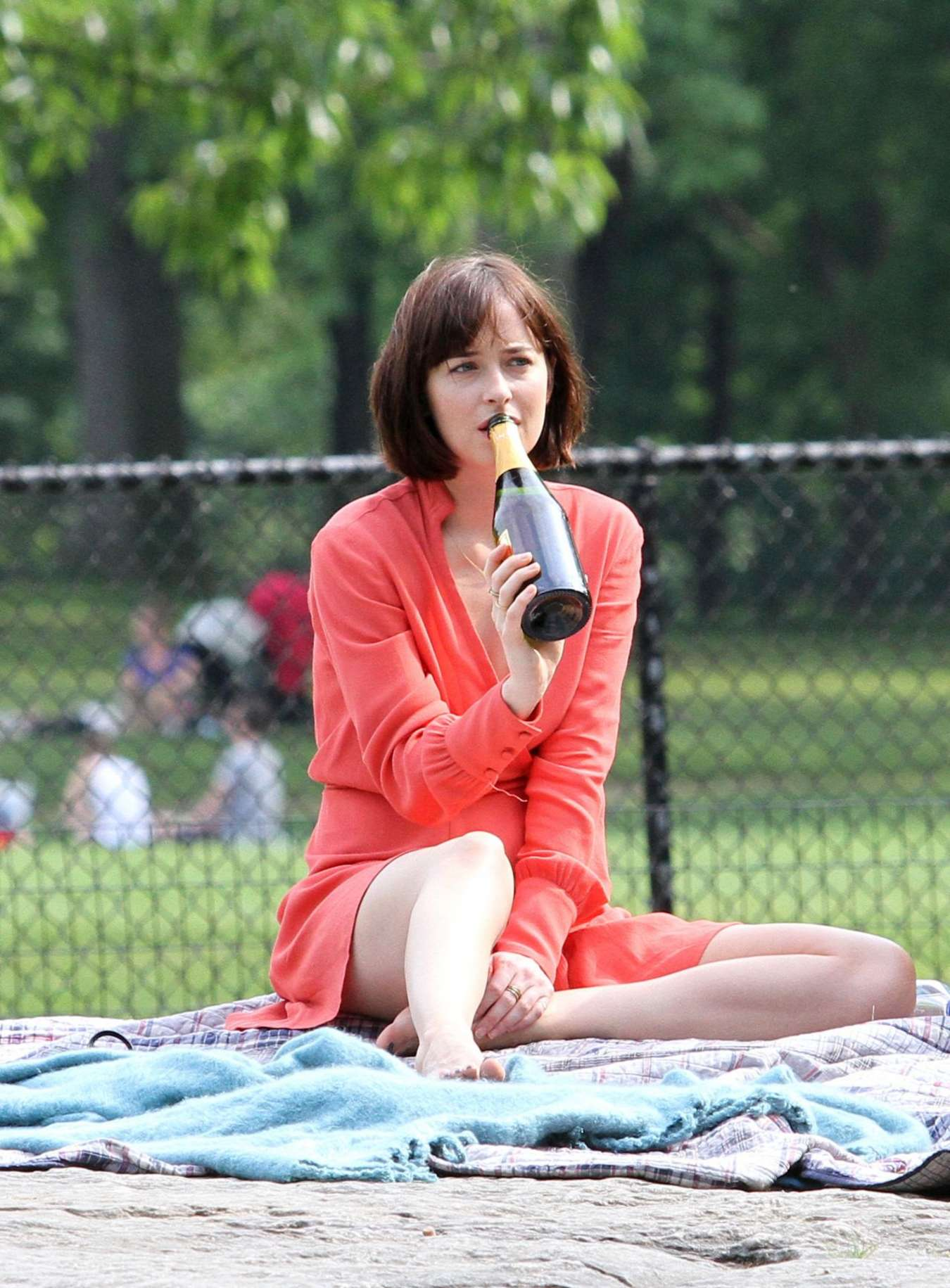 Dakota johnson in red dress on how to be single set 30 gotceleb dakota johnson in red dress on how to be single set 30 full size ccuart Choice Image