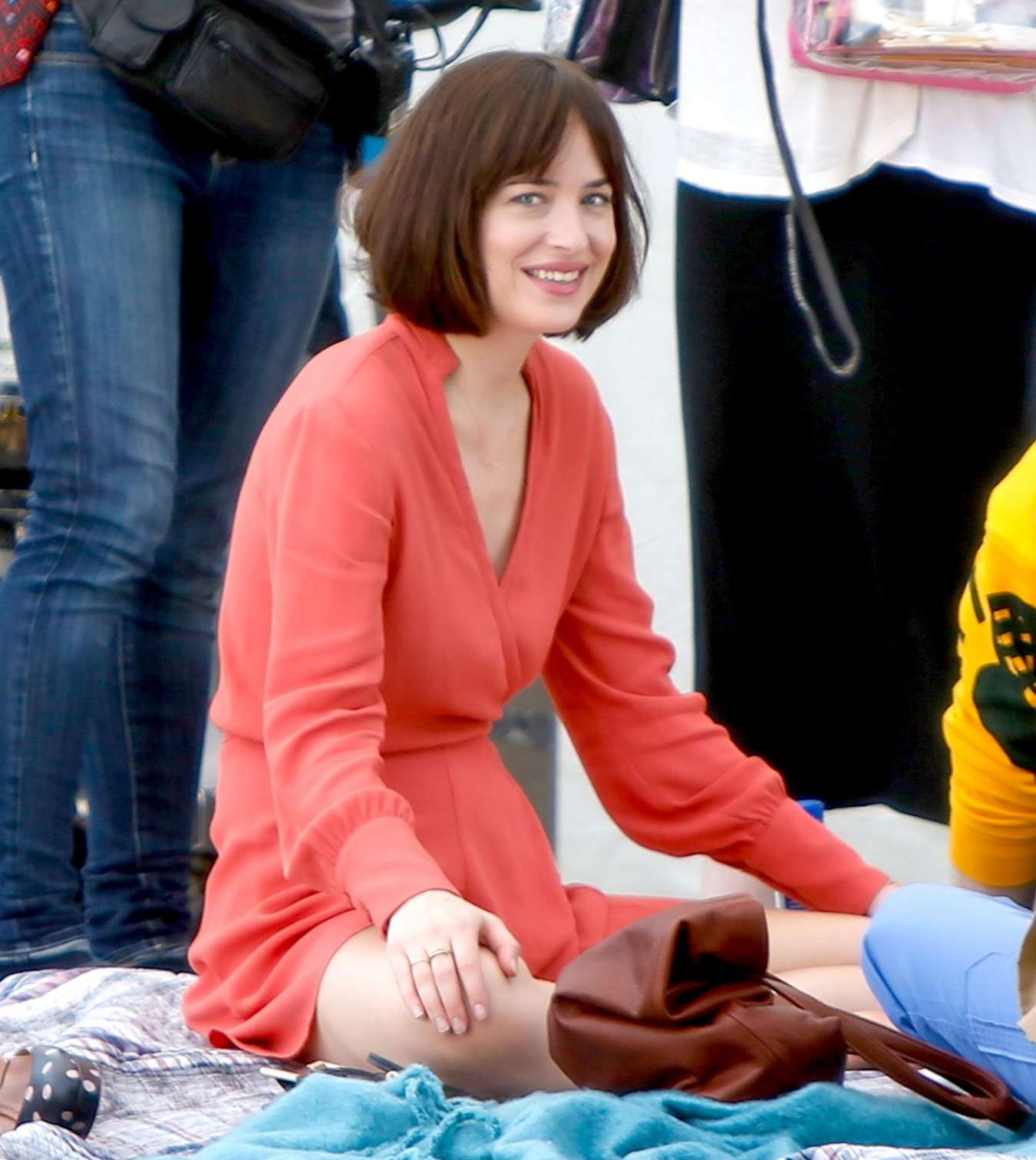Dakota johnson in red dress on how to be single set 42 gotceleb dakota johnson in red dress on how to be single set 42 ccuart Choice Image