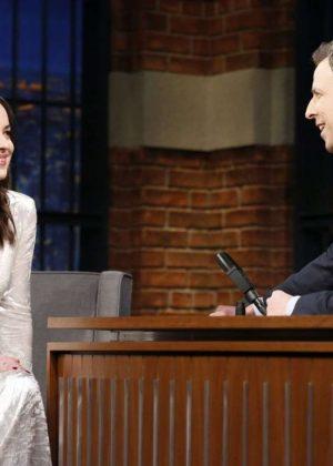 Dakota Johnson on 'Late Night with Seth Meyers' in New York City