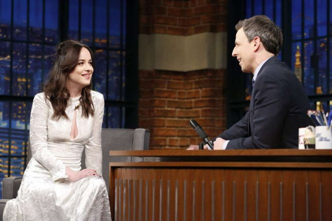 Dakota Johnson on 'Late Night with Seth Meyers' in New York City