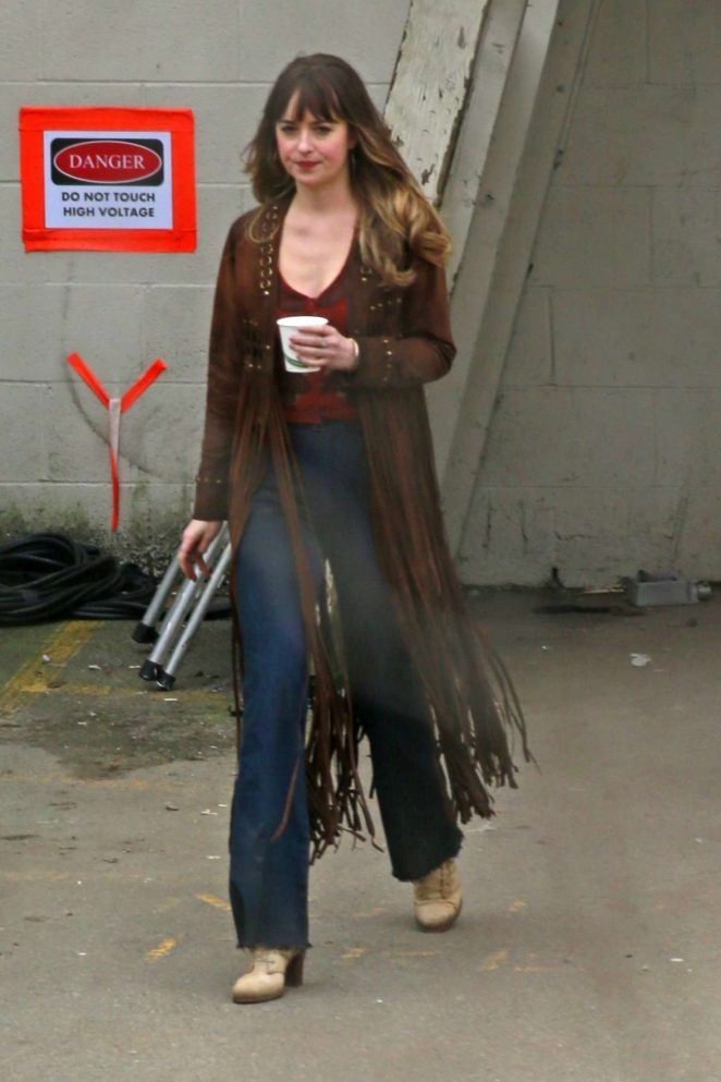 Dakota Johnson - On set of 'Bad Times at the El Royale' in Burnaby