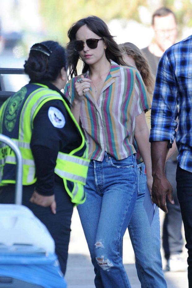 Dakota Johnson - On the set of 'Covers' in Los Angeles