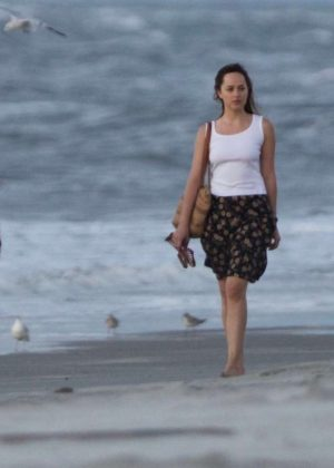 Dakota Johnson - On the set of 'The Peanut Butter Falcon' in Savannah