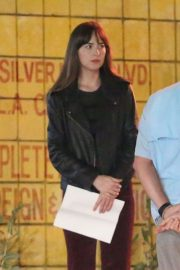Dakota Johnson - On the set of upcoming comedy 'Covers' in Los Angeles