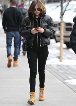 Dakota Johnson in Tight Jeans Out in Aspen
