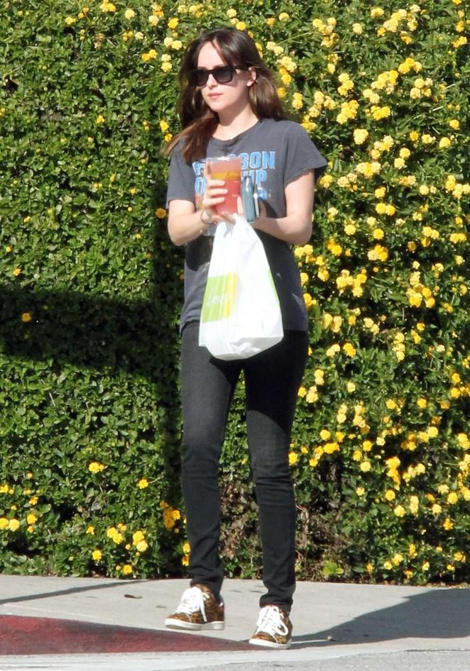 Dakota Johnson in Jeans  Out in Los Angeles