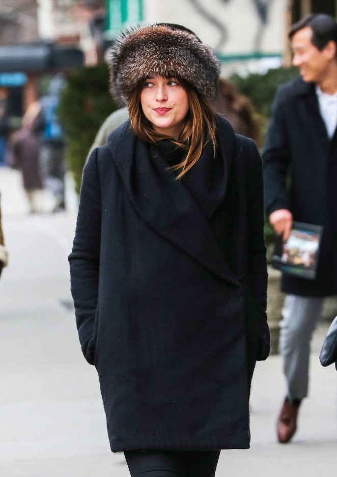 Dakota Johnson Style - Out and about in NYC