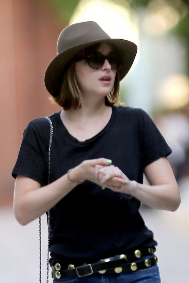 Dakota Johnson - Out and about in NYC