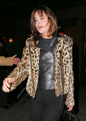 Dakota Johnson - Out for dinner in New York City