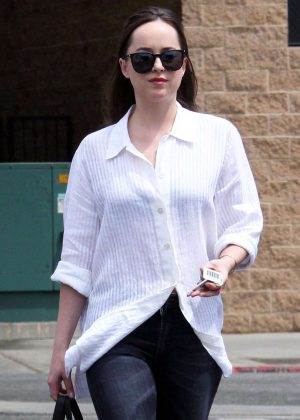 Dakota Johnson out for lunch in West Hollywood