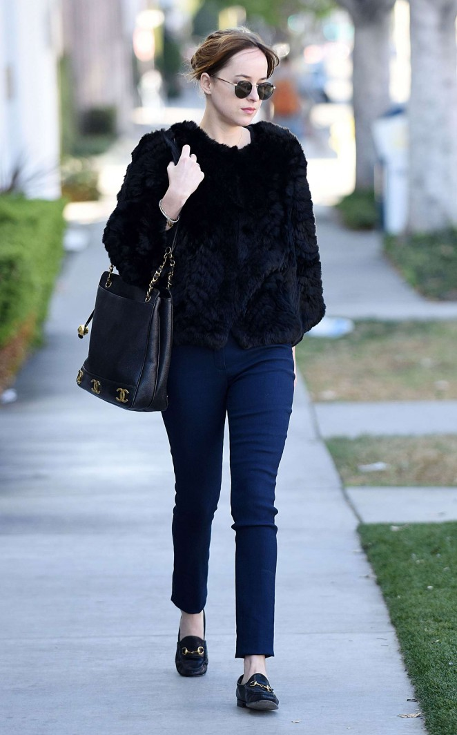 Dakota Johnson - Out in Larchmont Village