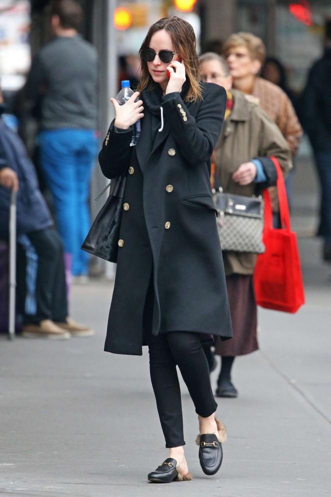 Dakota Johnson Out in New York City