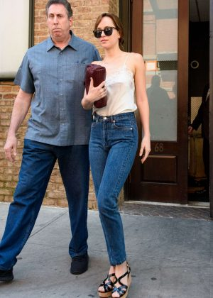Dakota Johnson Out in New York