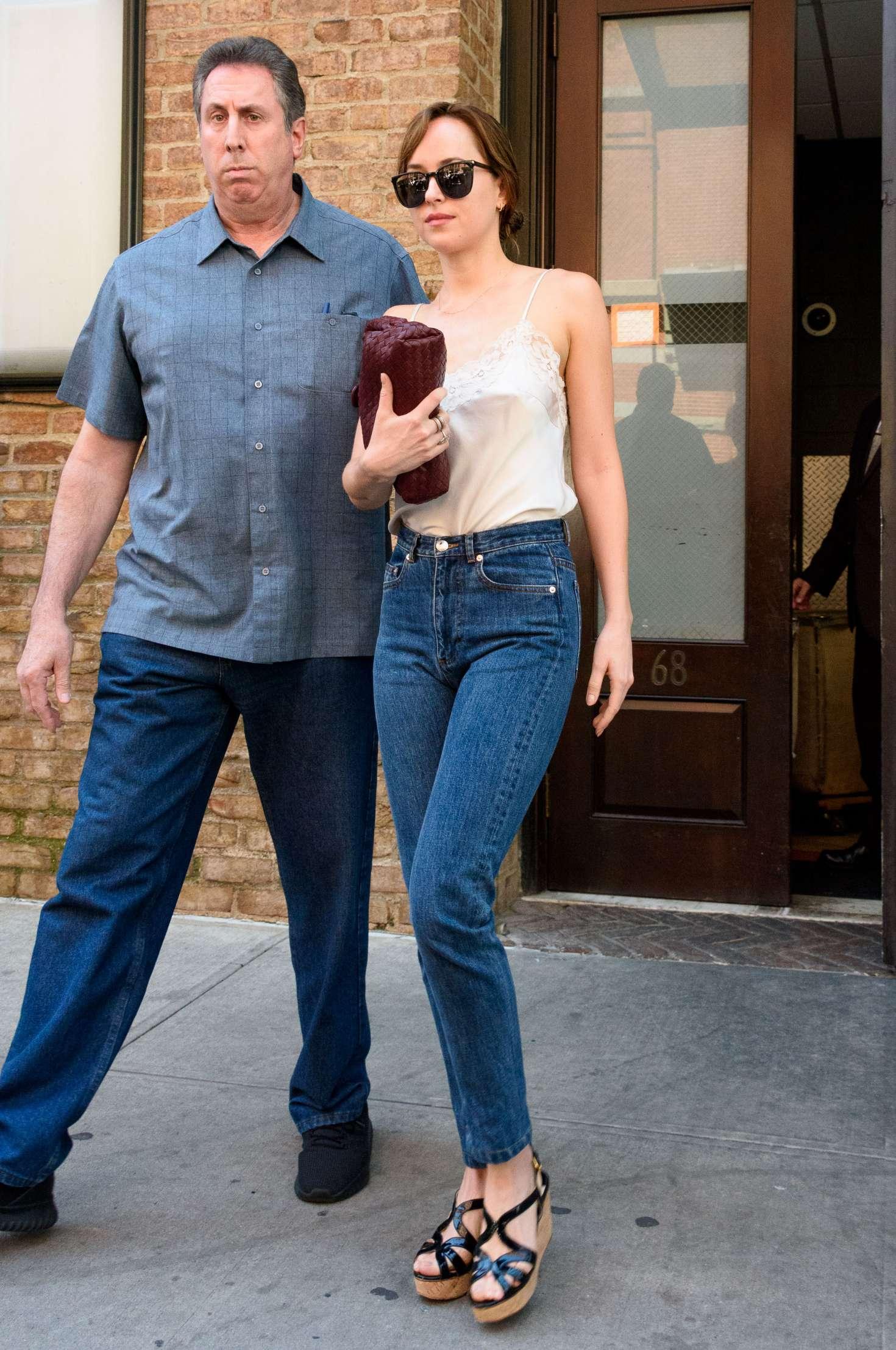 Dakota Johnson Out in New York