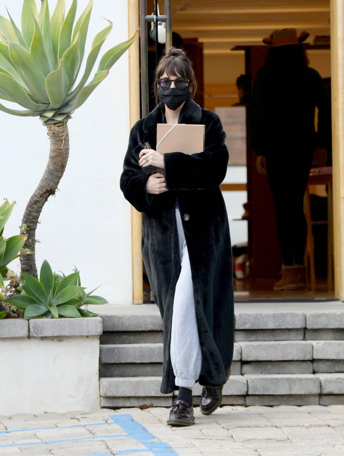 Dakota Johnson 2020 : Dakota Johnson – Seen at The Elder Statesman in West Hollywood-08