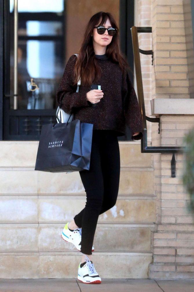 Dakota Johnson: Shopping at Barneys New York -01
