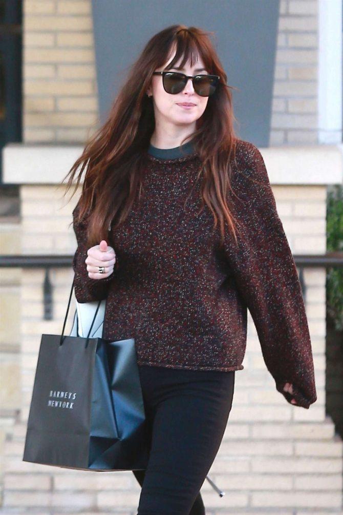 Dakota Johnson - Shopping at Barneys New York in LA