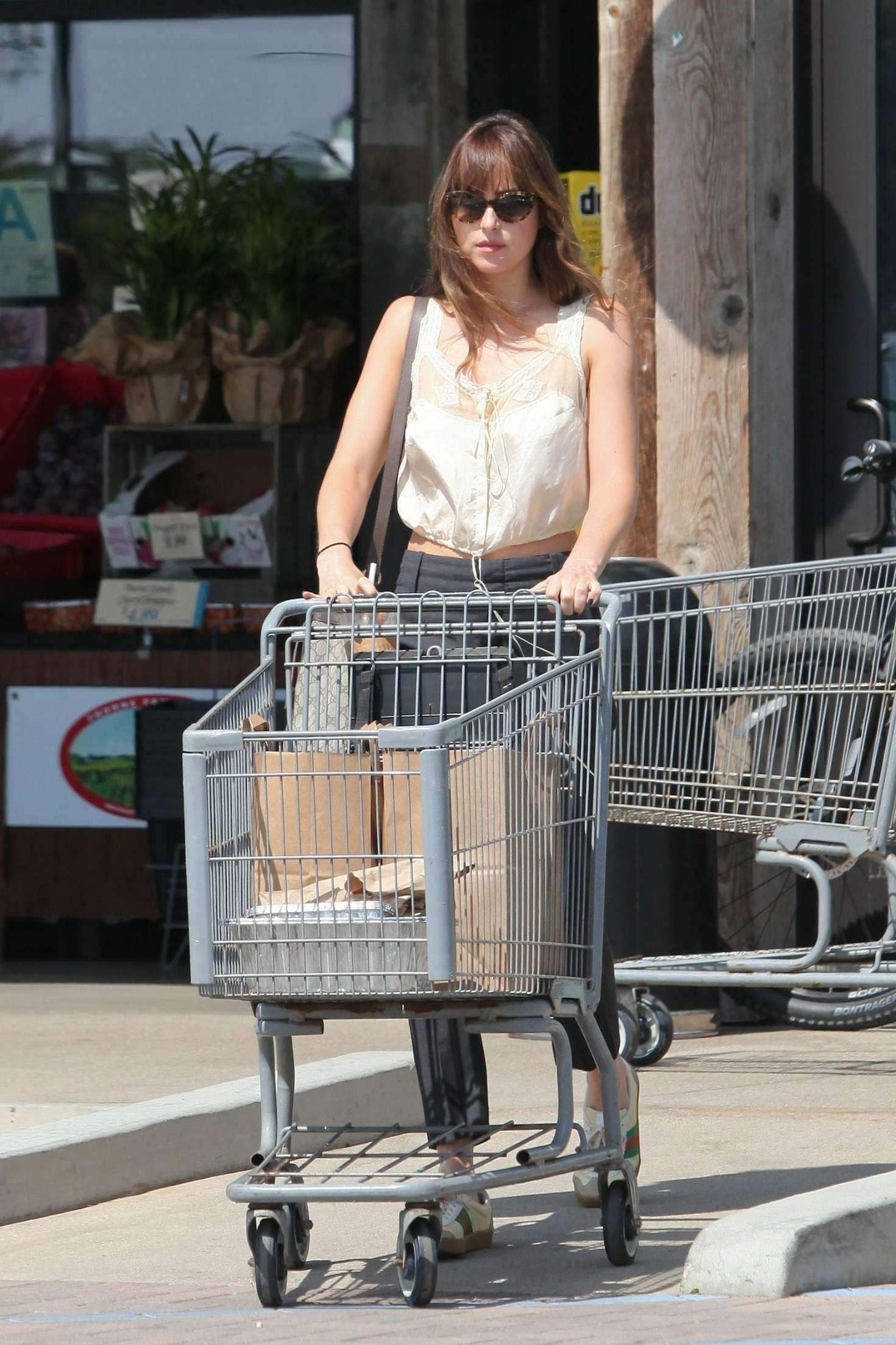 Dakota Johnson - Shopping at Vintage Grocers in Malibu