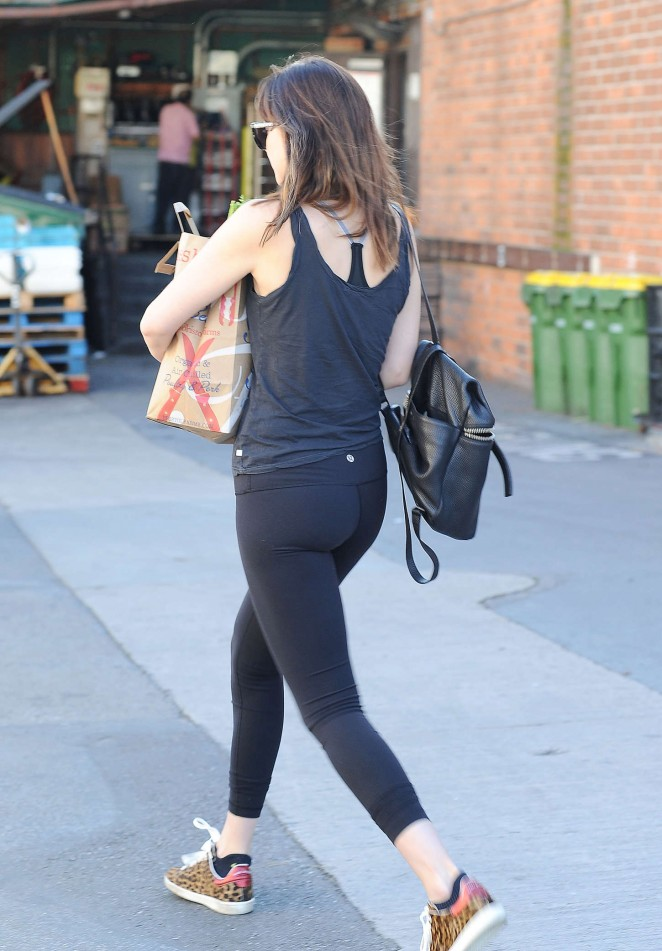 Dakota Johnson in Leggings Shopping in LA