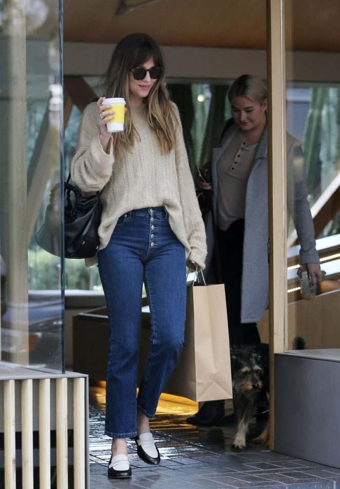 Dakota Johnson - Shopping on Melrose Place in Los Angeles