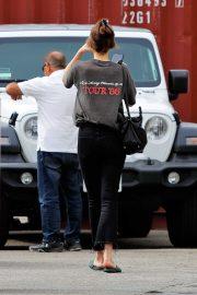 Dakota Johnson - Wears casuall street style for her salon visit in Los Angeles