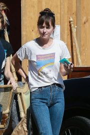 Dakota Johnson with a girlfriend at MedMen Cannabis Dispensary in LA