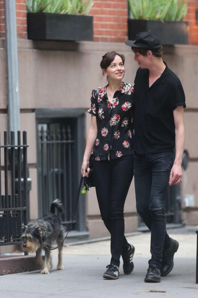 Dakota Johnson With Boyfriend in NY -01 – GotCeleb