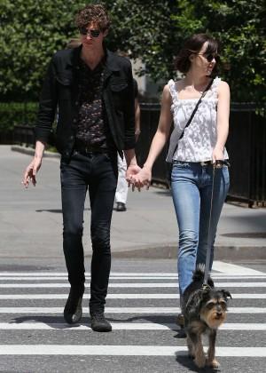 Dakota Johnson with boyfriend out in New York