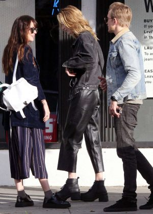 Dakota Johnson with her brother Jesse and her sister Grace out in Hollywood