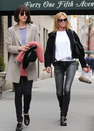 Dakota Johnson with her mom out in NYC