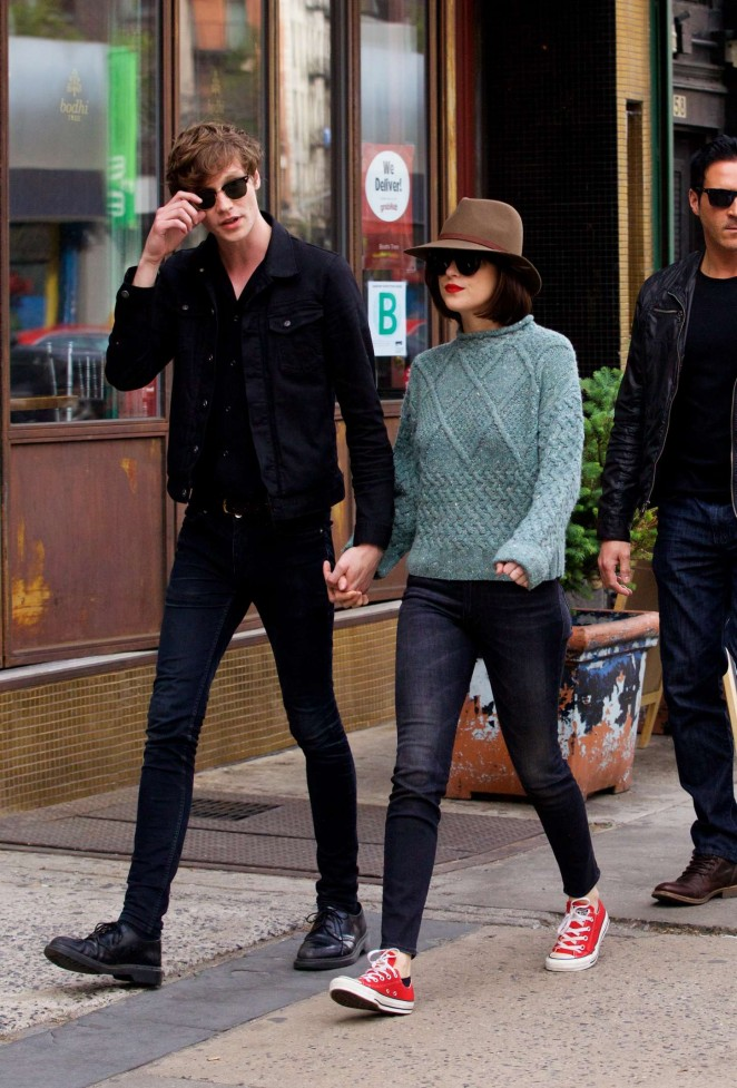 Dakota Johnson with Matthew Hitt Out in NYC