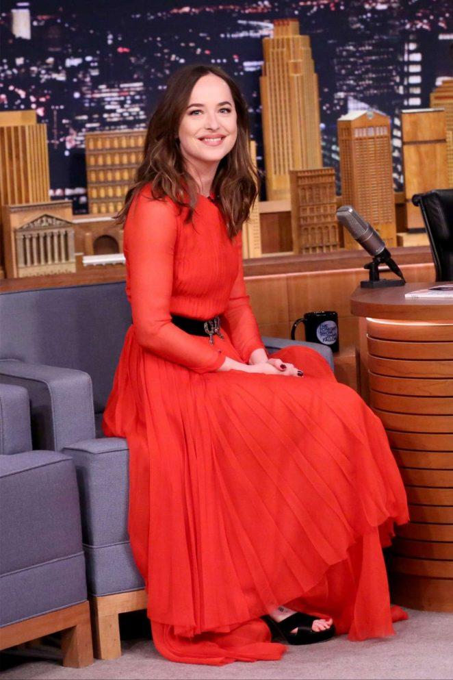 Dakota Johsnon on 'The Tonight Show Starring Jimmy Fallon' in NY