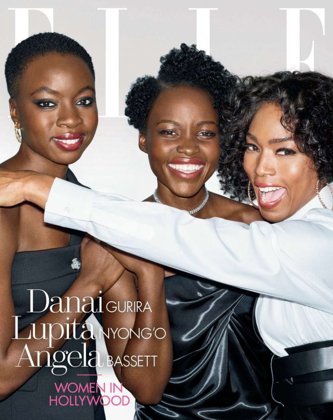 Danai Gurira, Lupita Nyong'o and Angela Bassett – Elle US The 'Women In Hollywood' (November 2018)