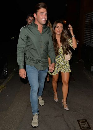 Dani Dyer and Jack Fincham - Out and about in Essex