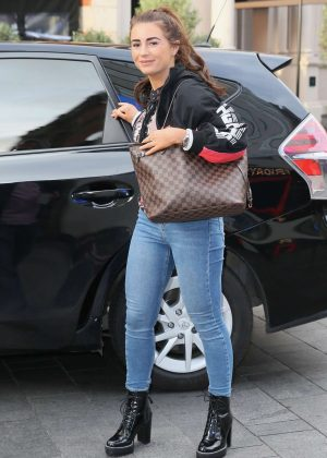 Dani Dyer Arrives At Global Studios In London Gotceleb