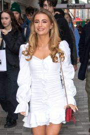Dani Dyer in white dress spotted in Soho