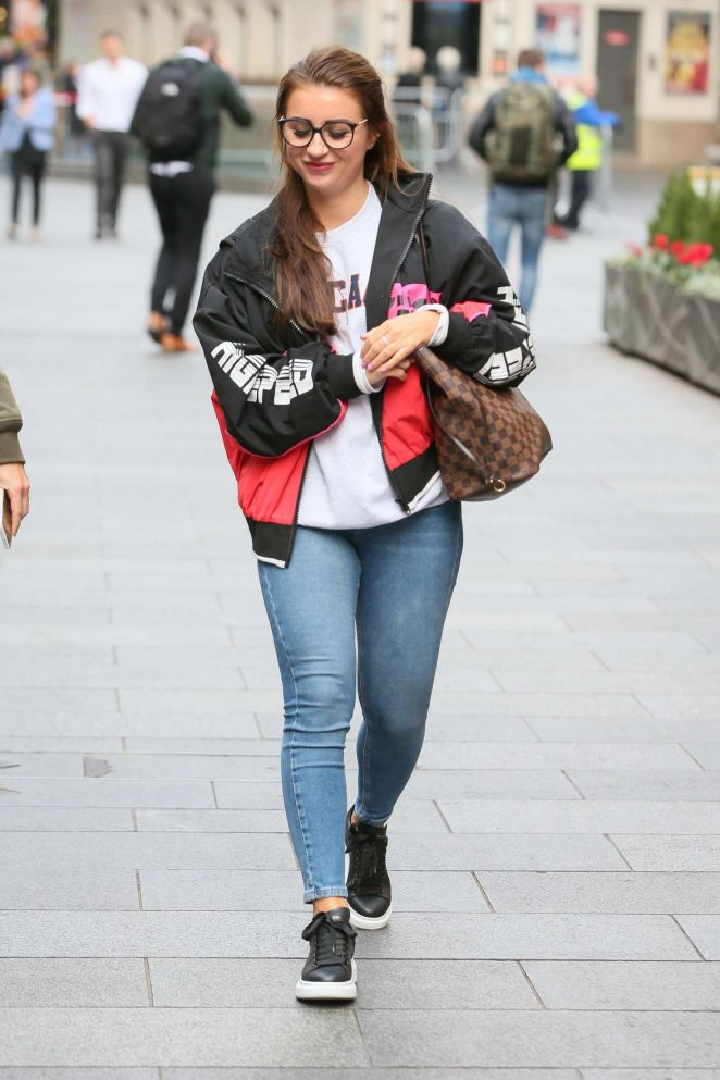 Dani Dyer - Leaving Capital Radio Studios in London