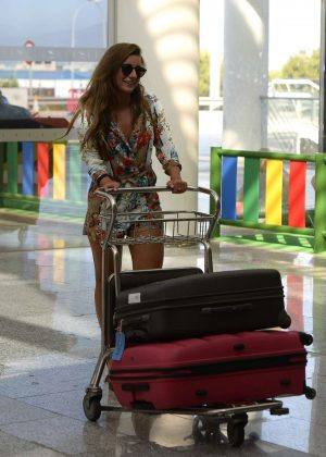 Dani Dyer - Returns from Love Island in London