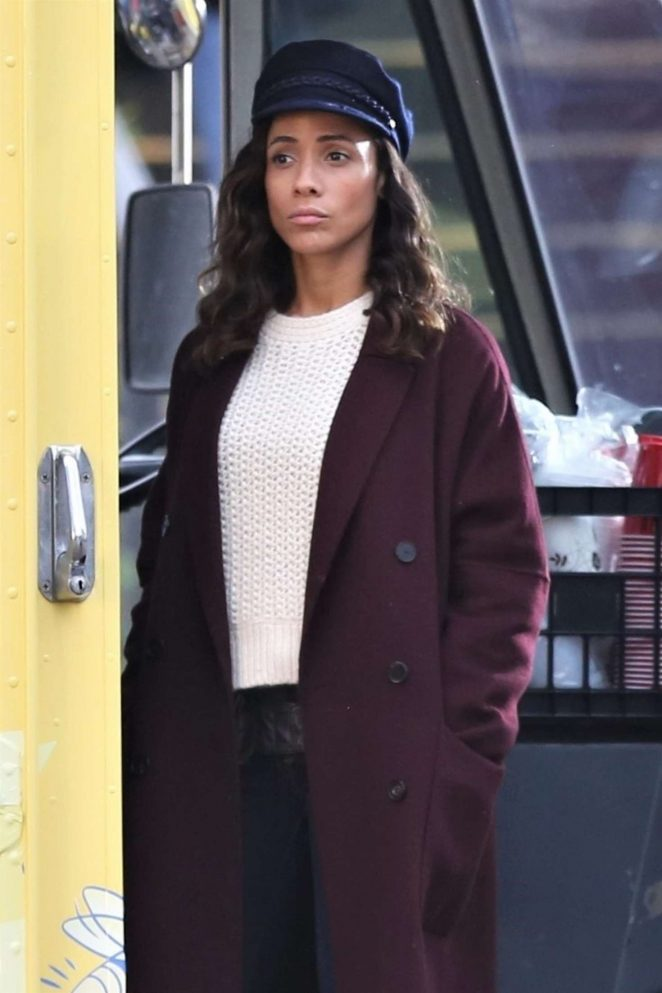Dania Ramirez - On the set of 'Once Upon a Time' in Vancouver