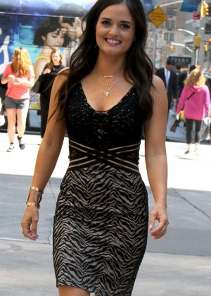 Danica McKellar in Mini Dress out in NYC