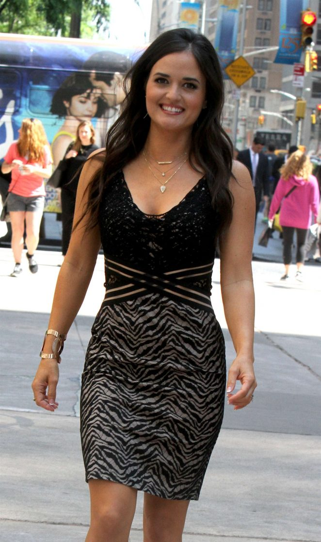 Danica McKellar in Mini Dress out in NYC