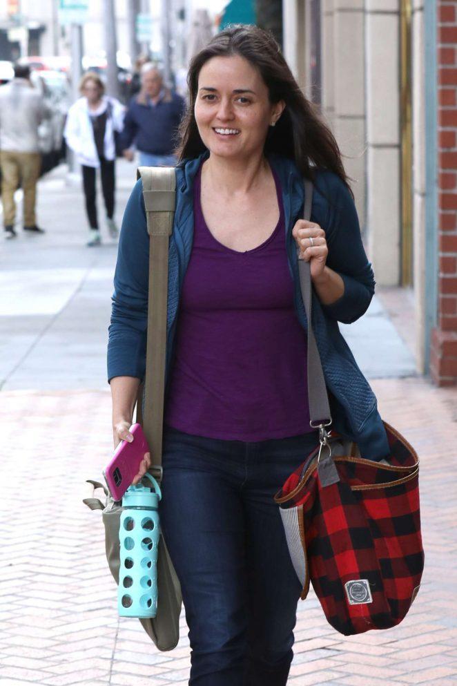 Danica McKellar out in Beverly Hills