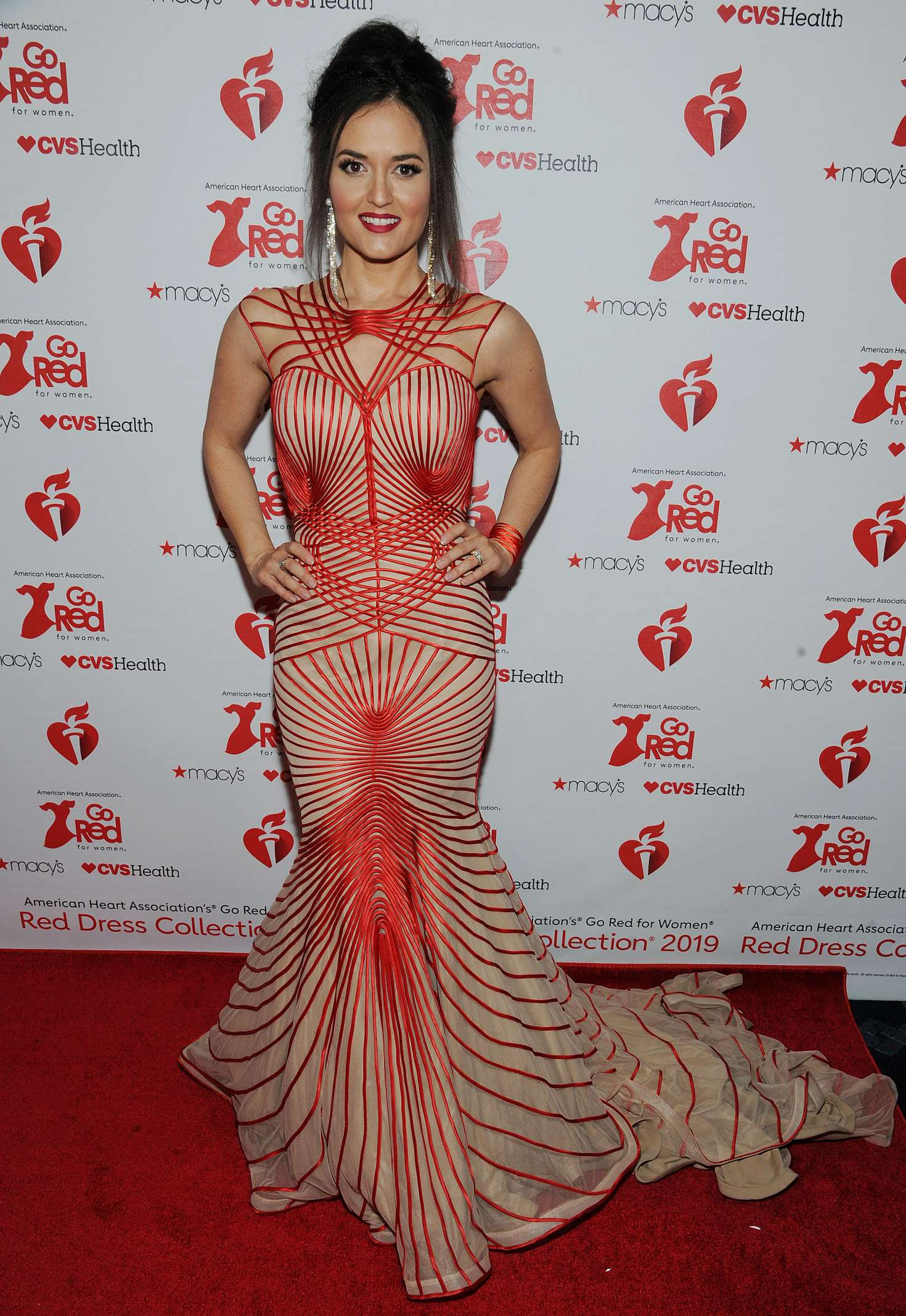 Danica McKellar 2019 : Danica McKellar: The American Heart Associations Go Red For Women Red Dress Collection 2019 -01