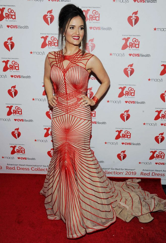 Danica McKellar – The American Heart Association's Go Red For Women Red Dress Collection 2019 in NYC