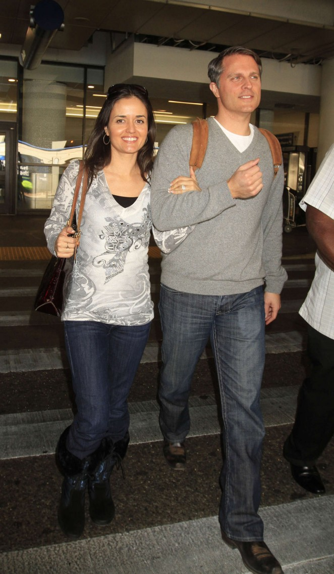 Danica McKellar with her husband in Los Angeles